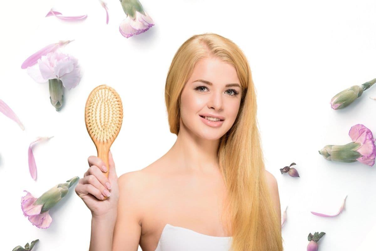 Wood bristle hairbrush