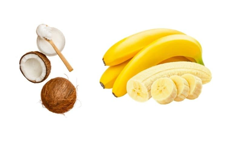 Banana hair conditioner for dry hair